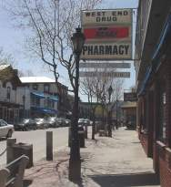 The West End Drug Store on Main Street
