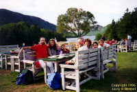Popovers on the lawn at Jordan Pond