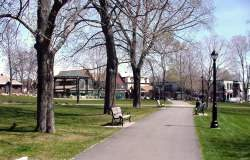 Village Green on a quiet spring day